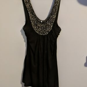 Black tank with lots of bling